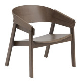 Muuto Cover Lounge Chair donkerbruin