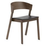Muuto Cover Side Chair Eetkamerstoel leer