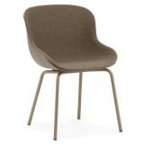 Normann Copenhagen Hyg stoel full upholstery met stalen onderstel