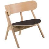 Northern Oaki loungestoel met zitkussen