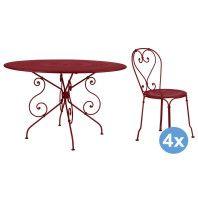 Fermob 1900 tuinset 117 tafel + 4 stoelen