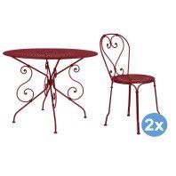 Fermob 1900 tuinset 96 tafel + 2 stoelen