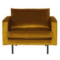 BePureHome Outlet - Rodeo Velvet fauteuil oker