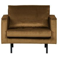 BePureHome Outlet - Rodeo Velvet fauteuil honing geel