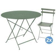 Fermob Bistro tuinset 96 tafel + 2 stoelen
