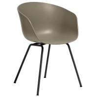 Hay Outlet - About a Chair AAC26 stoel met zwart onderstel Khaki