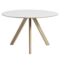 Hay Tweedekansje - Copenhague CPH20 tafel, gezeept eiken, off white linoleum 120