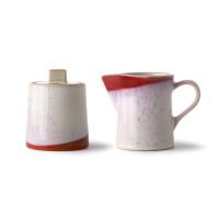 HKliving 70's Ceramic Melk en Suiker set