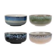HKliving 70's Ceramic kom medium set van 4