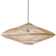HKliving Wicker hanglamp oval natural