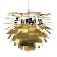 Louis Poulsen Artichoke 60 hanglamp gegraveerd messing