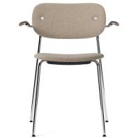 Menu Co Chair stoel gestoffeerd met armleuning chroom onderstel