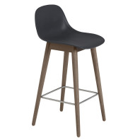 Muuto Fiber Backrest Wood barkruk 65cm