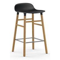 Normann Copenhagen Outlet - Form Barstool barkruk 65cm met eiken onderstel zwart