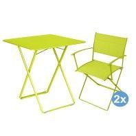 Fermob Plein Air tuinset 71x71 tafel + 2 stoelen (armchair)