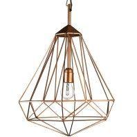 Pols Potten Tweedekansje - Diamond hanglamp medium koper