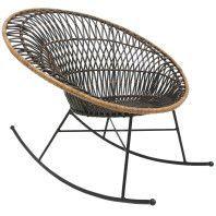 HKliving Rattan schommelstoel