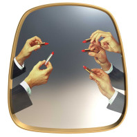 Seletti Mirror Gold frame spiegel 54x59
