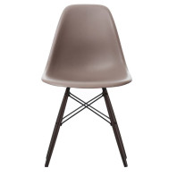 Vitra Tweedekansje - DSW stoel, kuip mauve grijs, onderstel zwart esdoorn