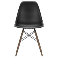 Vitra Tweedekansje - Eames DSW stoel met donker esdoorn onderstel, Diepzwart
