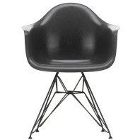 Vitra Eames DAR Fiberglass stoel zwart onderstel