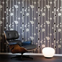 Ferm Living Walldots behang grijs