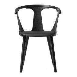 &tradition Tweedekansje - In Between stoel zwart gebeitst essen, zitkussen Leder Silk Black