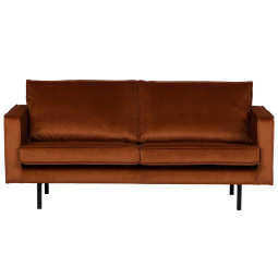 BePureHome Outlet - Rodeo Velvet bank 2,5-zits roest