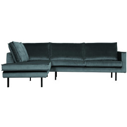 BePureHome Rodeo Velvet hoekbank links