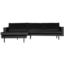 BePureHome Rodeo Velvet met chaise longue links
