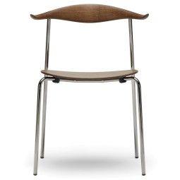 Carl Hansen & Son CH88T Smoked Chrome stoel