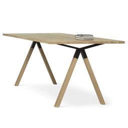 EYYE Axxe tafel 180x90 met rechte hoeken, Exclusive eikenhout