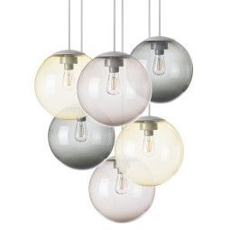 Fatboy Tweedekansje - Spheremaker hanglamp set van 6 taupe geel