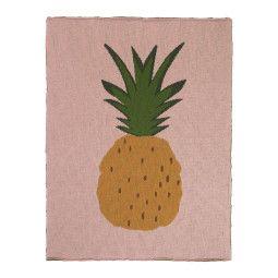 Ferm Living Fruiticana Pineapple plaid 100x80
