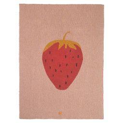 Ferm Living Fruiticana Strawberry plaid 100x80