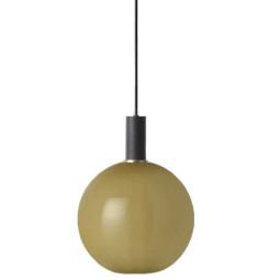 Ferm Living Opal Sphere hanglamp southern moss