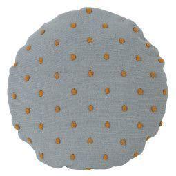 Ferm Living Popcorn Round kussen 40 mint
