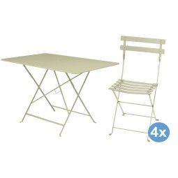 Fermob Bistroset tuin 117x77 tafel + 4 stoelen