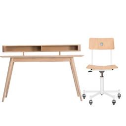 Flinders Made in the workshop bureaustoel & Stafa bureau schapvak