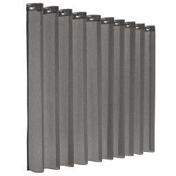 Flinders Romance gordijn - transparant - concrete grey