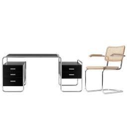 Flinders S64 V stoel met armleuningen & S285/1 bureau Thuiswerkplek