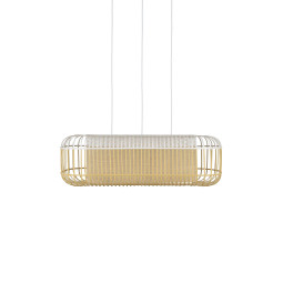 Forestier Bamboo Oval L hanglamp