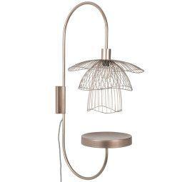 Forestier Tweedekansje - Papillon wandlamp met plateau metallic taupe