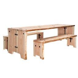 Weltevree Forestry tuinset 180x80 tafel + 2 banken