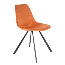 Dutchbone Franky Velvet stoel
