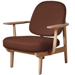 Fritz Hansen Fred JH97 fauteuil geolied eiken