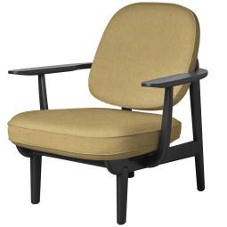 Fritz Hansen Fred JH97 fauteuil zwart gelakt essen