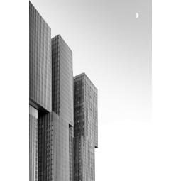 Get Art De Rotterdam & Maan kunstfotografie 40x60