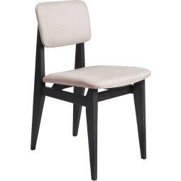Gubi C-chair stoel gestoffeerd