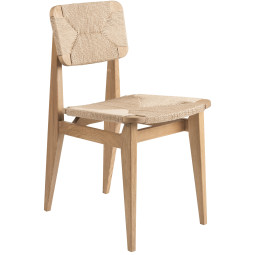 Gubi C-chair stoel papercord oak oiled